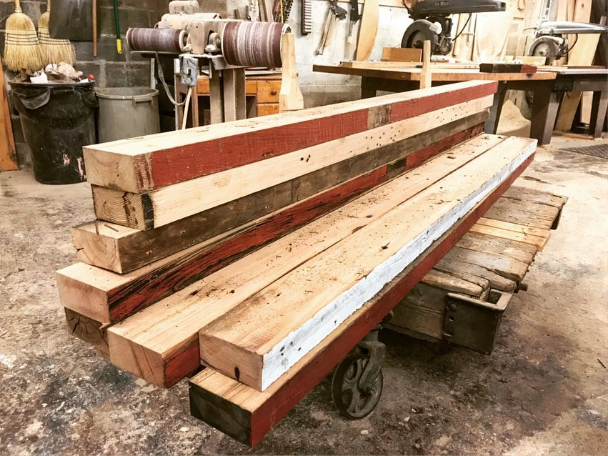 100 Year old beams take on a new life..