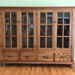 reclaimed chestnut china cabinet front view