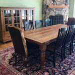 reclaimed chestnut china cabinet and matching table