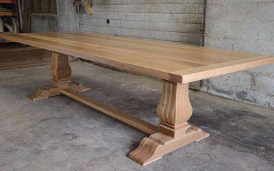 White Oak Tuscan Trestle Table